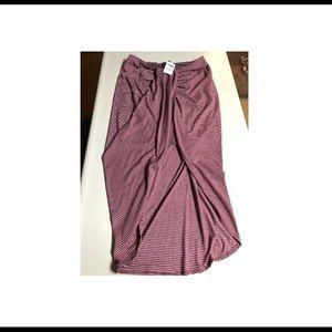 Long high/low skirt